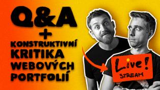 Q&A + Konstruktivní kritika webových portfólií